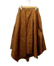 emmi atelier(エミアトリエ)の古着「アシメスカート」|ブラウン