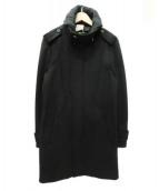 WOO YOUNG MI(ウーヨンミ)の古着「スタンドカラーコート」 ブラック