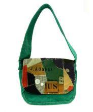 J AUGUR DESIGN(ジュディーオーガーデザイン)の古着「リメイクショルダーバッグ」 グリーン
