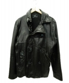 cathy jane(キャシージェーン)の古着「レザーコート」 ブラック