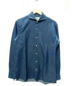 giannetto(ジャンネット)の古着「デニムホリゾンタルカラーシャツ」|インディゴ