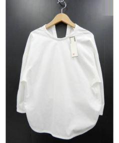 BACCA(バッカ)の古着「コットントロピカル バックリボンブラウス」 ホワイト