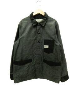 Pherrows(フェローズ)の古着「カバーオール」|グレー×ブラック