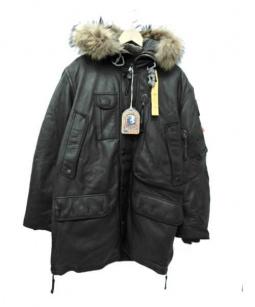 PARAJUMPERS(パラジャンパーズ)の古着「レザーフライトコート」|ブラウン