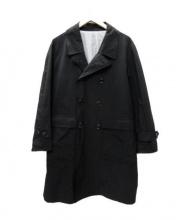 BKT by BROOKLYN TAILORS(ビーケーティーバイブルックリンテイラーズ)の古着「トレンチコート」|ブラック