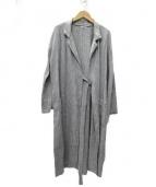 fog linen work(フォグリネンワーク)の古着「リネンガウンカーディガン」|グレー
