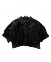 tricot COMME des GARCONS(トリココムデギャルソン)の古着「ショートスリーブジャケット」|ブラック