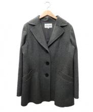 HANAE MORI(ハナエ モリ)の古着「カシミヤコート」|グレー