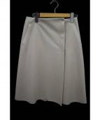 FOXEY NEWYORK(フォクシーニューヨーク)の古着「ラップスカート」|ベージュ