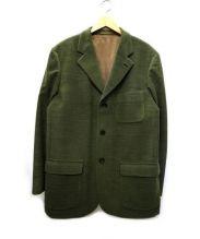 BRIONI(ブリオーニ)の古着「エルボーパッチコーデュロイジャケット」|オリーブ