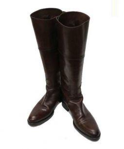 SARTORE(サルトル)の古着「ダブルベルトジョッキーブーツ」|ブラウン