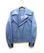 MUZE(ミューズ)の古着「デニムライダースジャケット」