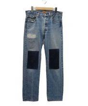 B SIDES(ビーサイズ)の古着「リメイクデニムパンツ」|インディゴ
