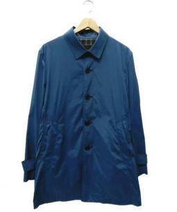 BURBERRY BLACK LABEL(バーバリー・ブラックレーベル)の古着「ステンカラーコート」 ブルー