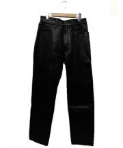 AERO LEATHER(エアロレザー)の古着「ホースハイドパンツ」|ブラック