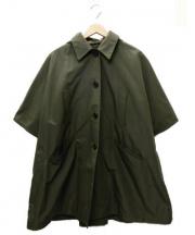 PRADA(プラダ)の古着「フーデッドポンチョ」|オリーブ