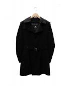 BURBERRY BLACK LABEL(バーバリーブラックレーベル)の古着「ライナー付シングルコート」|ブラック