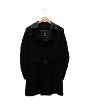 BURBERRY BLACK LABEL(バーバリーブラックレーベル)の古着「ライナー付シングルコート」 ブラック
