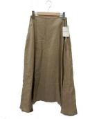 MADISONBLUE(マディソンブルー)の古着「リネンスカート」|ベージュ