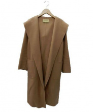 UNITED ARROWS TOKYO(ユナイテッドアローズ)の古着「フーデットガウンコート」|ベージュ