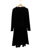 EMPORIO ARMANI(エンポリオアルマーニ)の古着「レイヤードワンピース」|ブラック