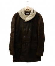 C.P COMPANY(シーピーカンパニー)の古着「ムートンコート」|ブラウン