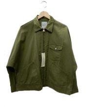 H.UNIT STORE LABEL(エイチユニットストアレーベル)の古着「ドルマンワークジャケット」 オリーブ