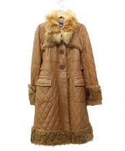 BURBERRY BLUE LABEL(バーバリーブルーレーベル)の古着「キルティングレザーコート」