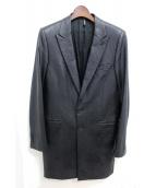 Dior HOMME(ディオールオム)の古着「コーティングチェスターコート」|ブラック