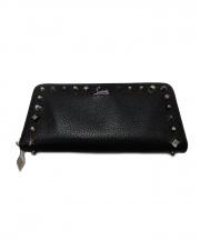 Christian Louboutin(クリスチャンル・ブタン)の古着「ラウンドファスナー長財布」 ブラック
