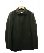 MACKINTOSH PHILOSPHY(マッキントッシュ フィロソフィー)の古着「メルトンシングルPコート」|グリーン