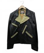Dry bones(ドライボーンズ)の古着「レザーアヴィエイタージャケット」|ブラック