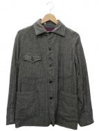 POST OALLS(ポストオーバーオールズ)の古着「ヘリンボーンジャケット」|グレー