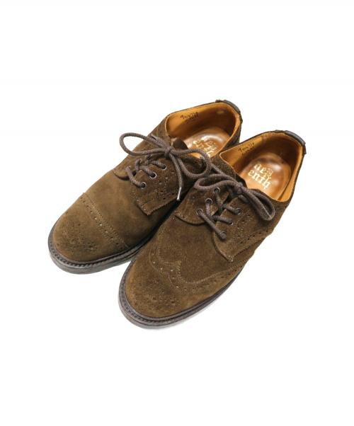 Tricker's(トリッカーズ)Tricker's (トリッカーズ) ウィングチップシューズ ブラウン サイズ:5 NEPENTHES別注の古着・服飾アイテム