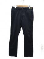 BROWN by 2-tacs(ブラウン バイ ツータックス)の古着「コットンウールパンツ」|ネイビー