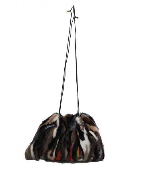 arron(アローン)arron (アローン) ファー巾着バッグ ブラック 定価47.000円+税 2018AWの古着・服飾アイテム