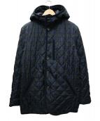 TAKEO KIKUCHI(タケオ キクチ)の古着「リバーシブルキルティングコート」 ネイビー×グリーン