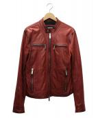 DSQUARED2(ディースクエアード)の古着「レザージャケット」|レッド