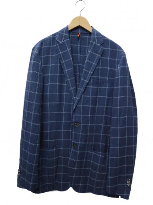 CORNELIANI(コルネリアーニ)CORNELIANI (コルネリアーニ) ウインドペンテーラードジャケット ブルー サイズ:48の古着・服飾アイテム