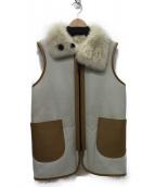COACH(コーチ)の古着「ムートンリバーシブルベスト」|ホワイト