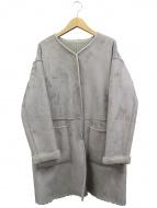 ANGLOBAL SHOP(アングローバルショップ)の古着「リバーシブルフェイクファーコート」|グレー