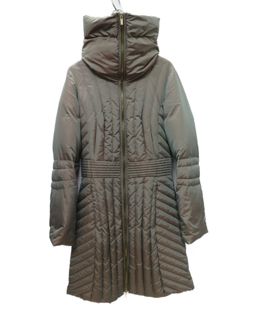 MAX&Co.(マックスアンドコー)MAX&Co. (マックスアンドコー) 中綿ダウンコート カーキ サイズ:38 YM08629の古着・服飾アイテム