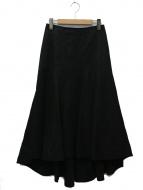 INSCRIRE(アンスクリア)の古着「フレアスカート」|ブラック