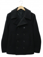 LITHIUM HOMME(リチウム オム)の古着「ヘビーメルトンPコート」|ブラック