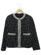 ANAYI(アナイ)の古着「モノトーンチェックツイードジャケット」