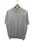 JOHN SMEDLEY(ジョン スメドレー)の古着「ニットポロシャツ」|グレー