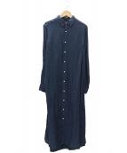 INDIVIDUALIZED SHIRTS(インディビジュアライズドシャツ)の古着「リネンシャツワンピース」