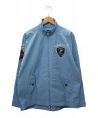VAN JAC(ヴァンジャケット)の古着「ワッペンジップアップジャケット」