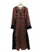 sara mallika(サラマリカ)の古着「ペイズリー柄ワンピース」