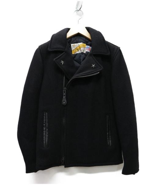 Schott(ショット)Schott (ショット) 769URメルトンライダースジャケット ブラック サイズ:S 冬物 7250の古着・服飾アイテム